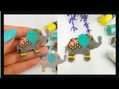 Bead Embroidery Jewelry, Beaded Embroidery, Beaded Jewelry, Elephant Earrings, Simple Cross Stitch, Beaded Animals, Brick Stitch, Loom Beading, Hobbies And Crafts