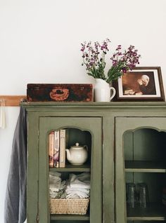 A Nice Green For An Old Cupboard Color That Is Versatile