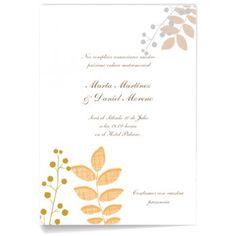 Invitaciones de boda Otoñal