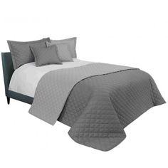 Elegantý prešívaný prehoz sivej farby 200 x 220 cm - domtextilu. Comforters, Blanket, Room, Furniture, Home Decor, Colors, Blankets, Home Furnishings, Shag Rug