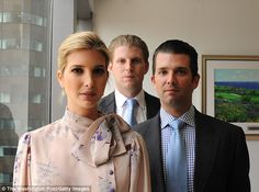 Straiher shooter: On Tuesday, an interview was released in which Eric admitted that he and his siblings got their job because of nepotism (Ivanka, Eric and Don Jr. in 2012)