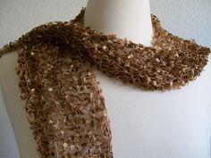 shades of brown scarf #Annesknits #thecraftstar