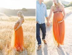 Meadow Bohemian Maternity Photos - Inspired By This