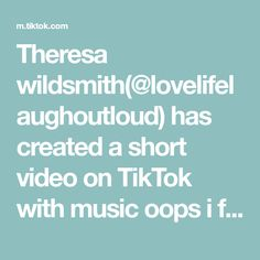 Theresa wildsmith(@lovelifelaughoutloud) has created a short video on TikTok with music oops i farted. Clu, Funny Clips, Married Life, Told You So, Create, Music, Destinations, Travel, Musica