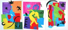 Matisse Shapes color paper cut | Inspired by Matisse Cut-Outs