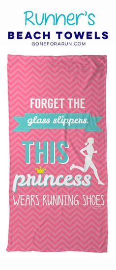 Are you a running princess? Show off your love for running with our beach towels for runners. Shop this style and more exclusively on goneforarun.com.