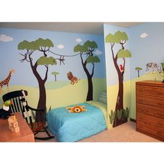 Wild Jungle Safari Wall Stencil Kit