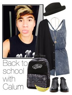 """""""Back to school with Calum"""" by acc70913 ❤ liked on Polyvore featuring Topshop, Organic by John Patrick, Vans, Forever 21 and Mambo"""