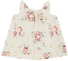 Infants' Amande Floral Cotton Poplin Dress #style#crewneck#poplin