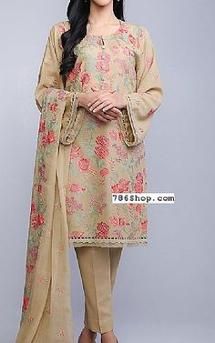 Beige Karandi Lawn Suit | Buy Bareeze Pakistani Dresses and Clothing online in USA, UK Pakistani Suits, Pakistani Dresses, Winter Dresses Online, Lawn Suits, Dresses Kids Girl, Shalwar Kameez, Asian Style, Winter Collection, Winter Outfits