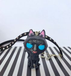 Coraline Cat Choker Coraline Cosplay Wuss-Puss The Cat | Etsy Coraline Button Eyes, Coraline Cat, Coraline Jones, World Cat, He Is Able, Halloween Cosplay, Necklace Set, Turquoise Bracelet, Chokers