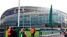 The Aviva Stadium, Dublin, home of Ireland's soccer and Rubgy