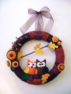 yarn wreath <3 @Kendra Vanderlecq !