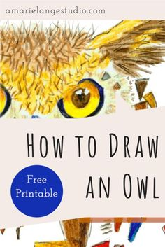 Whimsical, colorful and fun owl I designed just for you! Come see my easy method to draw and color this owl with watercolour pencils and a little imagination. Whimsical Nursery, Woodland Nursery Decor, Nursery Room Decor, Nursery Art, Watercolor Hand Lettering, Watercolor Pencil Art, Easy Watercolor, Everyday Objects, Quotes For Kids