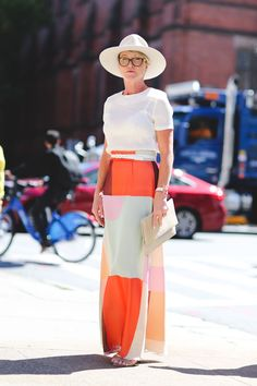 The Most Authentically Inspiring Street Style From New York #refinery29  http://www.refinery29.com/2015/09/93788/ny-fashion-week-spring-2016-street-style-pictures#slide-9  Some people were just made to wear hats....