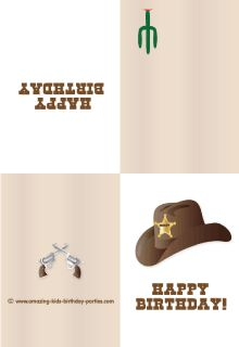 FREE Cowboy's Birthday Greeting Card