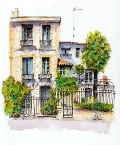 """Explore our web site for additional details on """"buy art artworks"""". It is actually an excellent area for more information. Pen And Watercolor, Watercolor Landscape, Watercolor Illustration, Watercolour Painting, Watercolor Architecture, Architecture Art, City Sketch, Urban Sketching, Art Auction"""