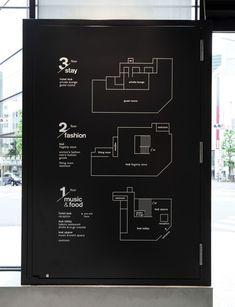 way finding Hotel Koé Beschilderung Map Signage, Hotel Signage, Directional Signage, Office Signage, Wayfinding Signs, Event Signage, Signage Design, Banner Design, Directory Design