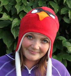 "Instant download_PDF sewing pattern - Fleece hat pattern - Vaappi's ""Really pissed off bird"" hat"