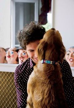 Mika and his dog Melachi <3 (Swatch picture)