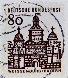 Stamp - Germany 80 pf. Weissenburg Bayern