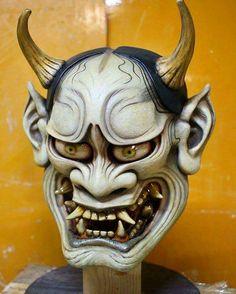 Hannya Mask Tattoo, Hanya Tattoo, Demon Tattoo, Tattoo Arm, Chinese Demon, Chinese Mask, Hannya Samurai, Samurai Art, Japanese Tattoo Art