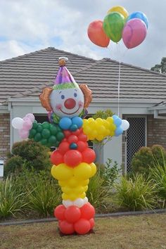 Balloon Clown Column