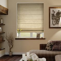 Dupioni Faux Silk Flax Roman Blind%20from%20Blinds%202go