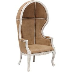 Dome Chair, Burlap (27,090 MXN) ❤ liked on Polyvore featuring home, furniture, chairs, accent chairs, white washed furniture, whitewash furniture, victorian era furniture, burlap chair and woods furniture
