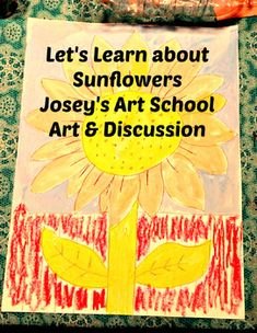 Art Lesson and Close Reading Sunflowers K- Grade History Science - All the Interesting Information You're Wondering Here Interesting Information, Interesting Facts, Joy Art, Close Reading, Common Core Standards, 5th Grades, Teacher Newsletter, Art School, Line Drawing