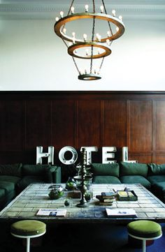 Ace Hotel : A friendly place, continually new. palm springs, londres, panama, LA, Portland, NY, Seattle