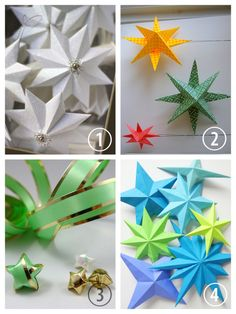 DIY 4 Paper Star Tutorials. DIY Paper Star Tutorial and Template from Urban…