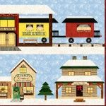 Holiday Snow Village Closeup 1