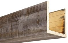 Our box beams provide all of the characteristics of a solid wood beam, at a fraction of the weight! Always made from real oak or cedar, 15 colors. Metal Beam, Cedar Box, Faux Wood Beams, Craftsman Interior, Wood Sample, Wood Siding, Decks And Porches, Ceiling Beams, Ceilings