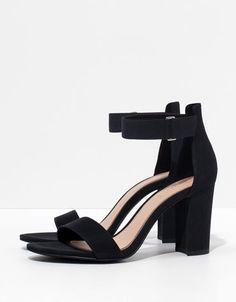 Sandaal met hak en print Bershka - New - Bershka Netherlands