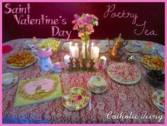 A St. Valentine's day tea party- a menu, suggested poetry book, and more! What an easy way to celebrate with the kids this year. :-)
