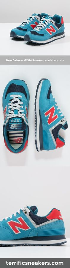 i want some new sneakers! New Balance ML574 Sneaker cadet/concrete #Sneakers