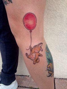 Bunny and balloon tattoo Biancaneve tattooer Milano