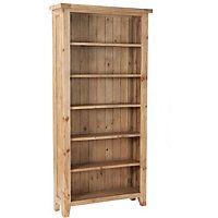 Worthing Traditional 6 Shelf Bookcase - Pine.