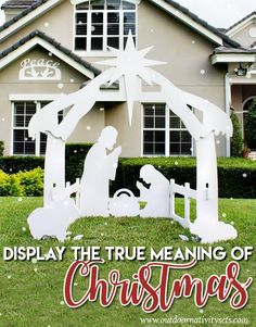 Outdoor Silhouette Nativity Set | Display the true meaning of Christmas! http://www.outdoornativitysets.com/outdoor-nativity-set.html