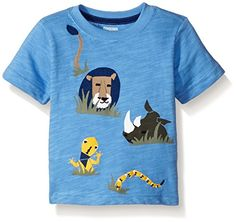 Gymboree Boys Toddler Boys Blue Safari Tee Deep Avocado 3T >>> You can get more details by clicking on the image. (This is an affiliate link) #BabyBoyTops