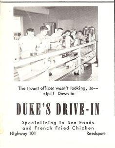 Duke's Drive-In - Reedsport, OR Southern Oregon Coast, Cat Recipes, Restaurant Recipes, Restaurant Copycat Recipes