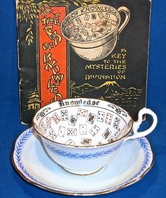 Fortune-Telling Tea Leaves | AYNSLEY - THE CUP OF KNOWLEDGE - FORTUNE TELLING CUP AND SAUCER WITH ...