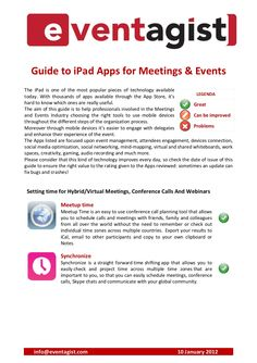 Guide to iPad Apps for Meetings and Events