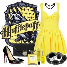 """Hufflepuff"" by katykat on Polyvore"