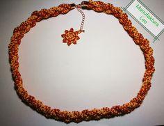 Necklace Merida by Manufaktura Leo Merida, Leather Working, Leo, Beaded Necklace, Jewelry Making, Handmade, Fashion, Beaded Collar, Moda