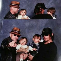 Norman Reedus and Michael Rooker with children...kill me now, it's just too cute!! ♥️