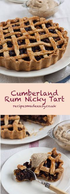 Cumberland Rum Nicky is the name given to an old English  tart filled with dates, ginger and flavoured with Rum. Traditionally served with Rum Butter.  #English #tart #traditional #dates #ginger #gbbo via @jacdotbee