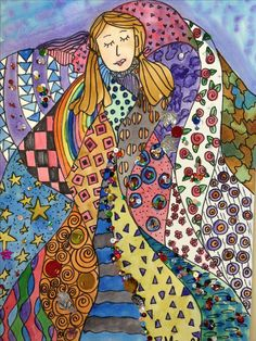 Klimt.. line, shape, pattern, color