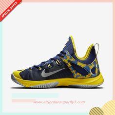 b33fb307733a 2015 Midnight Navy Tour Yellow Metallic Silver 705370-407 Nike Zoom  Hyperrev 2015